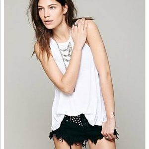 Free People Long Beach Tank In White Small